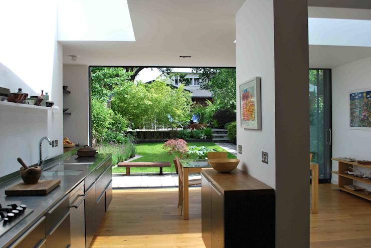 Suburban House Extension North London Scandinavian style kitchen by Caseyfierro Architects Scandinavian