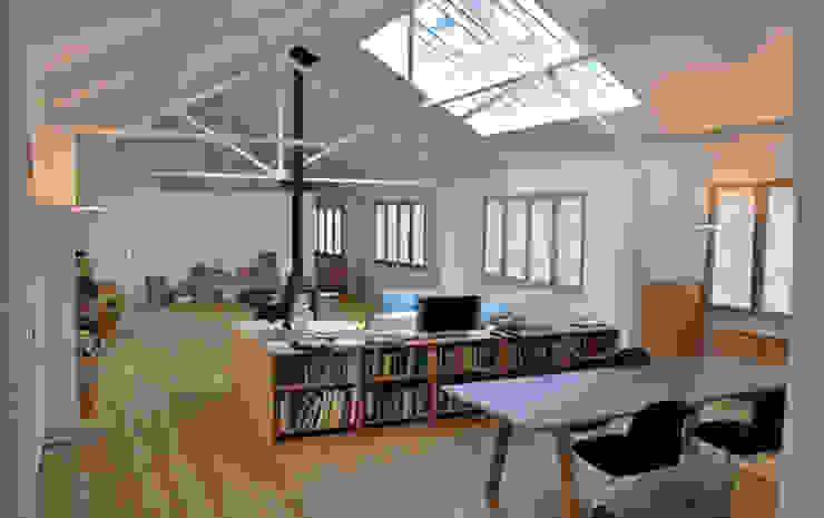 Jasper Morrison Design Office and Studio - London 北欧デザインの リビング の Caseyfierro Architects 北欧