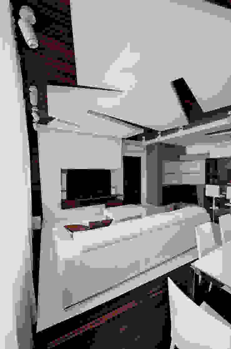 Квартира в Чертаново Гостиная в стиле минимализм от ARTRADAR ARCHITECTS Минимализм