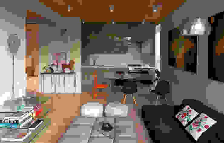 Дом Гостиные в эклектичном стиле от Sergey Makhno Architect Эклектичный