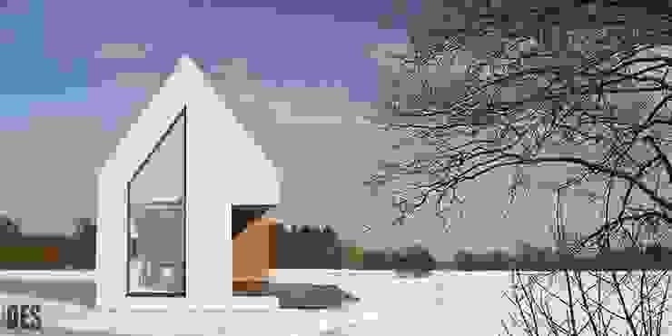 Projekt domu jednorodzinnego Nowoczesne domy od OES architekci Nowoczesny