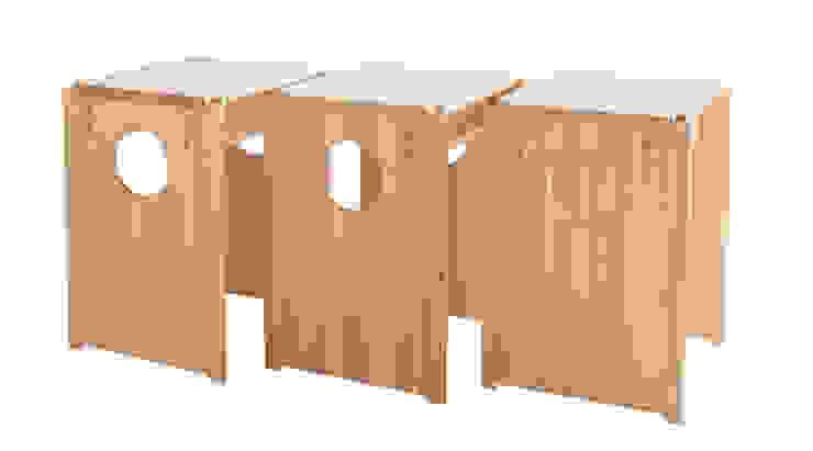 Cube Stool: tona BY RIKA KAWATO / tonaデザイン事務所が手掛けた現代のです。,モダン