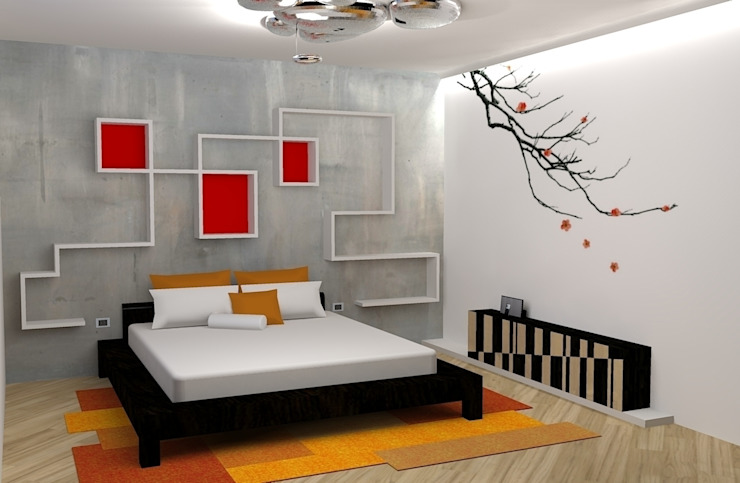 Bedroom by michel marchesi design, Asian