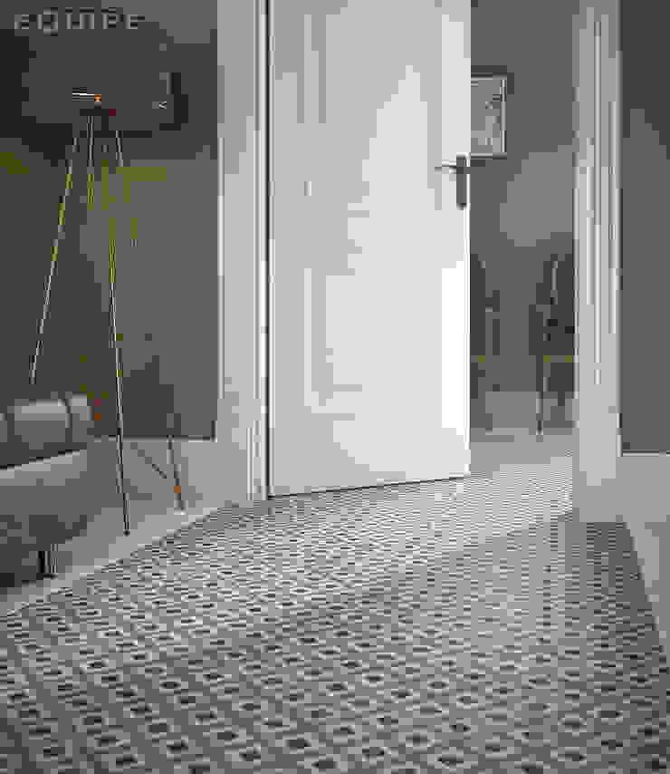 Equipe Ceramicas Eclectic style corridor, hallway & stairs