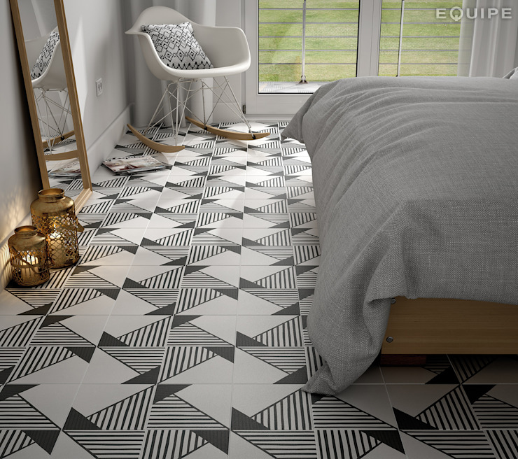 Equipe Ceramicas Eclectic style bedroom