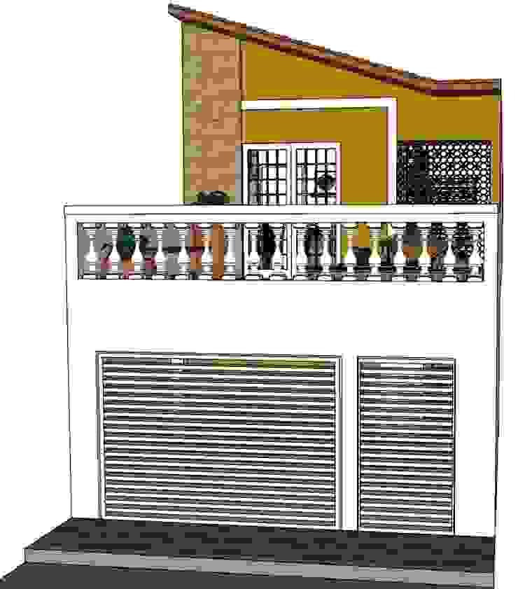 Fachada Casas rústicas por Natali de Mello - Arquitetura e Arte Rústico