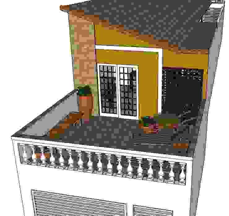 Perspectiva frontal Casas rústicas por Natali de Mello - Arquitetura e Arte Rústico