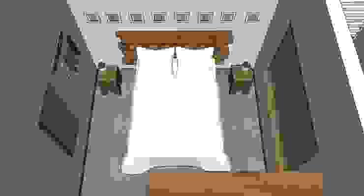 Dormitório Quartos rústicos por Natali de Mello - Arquitetura e Arte Rústico