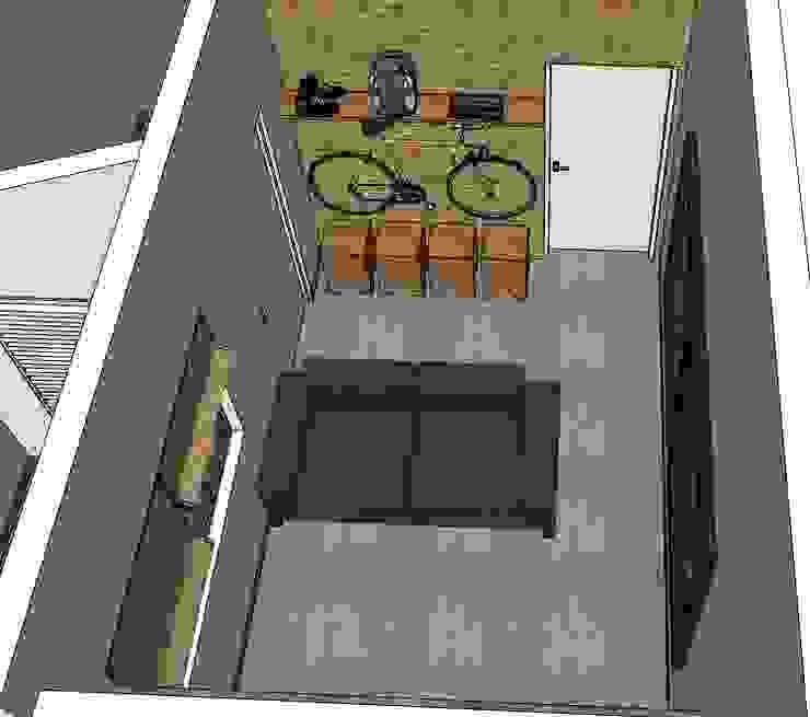Sala de estar Salas de estar rústicas por Natali de Mello - Arquitetura e Arte Rústico