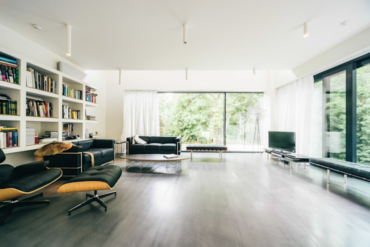 house of architects_2_arc2 ArC2 Fabryka Projektowa sp.z o.o. Minimalistische woonkamers