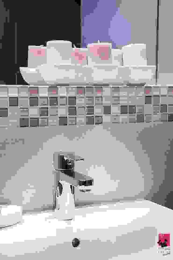 Mieszkanie w Łodzi – 48m2 Nowoczesna łazienka od Pink Pug Design Interior Nowoczesny