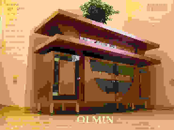 Винный комод - дерево в стекле:  в современный. Автор – ИП OLMIN - Архитектурная студия Олега Минакова, Модерн