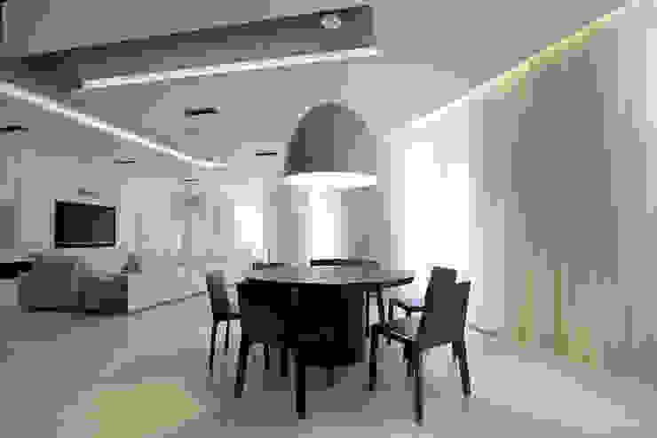 Клубный дом в Борисоглебском переулке 240 м2 Столовая комната в стиле минимализм от Gallery 63 Минимализм