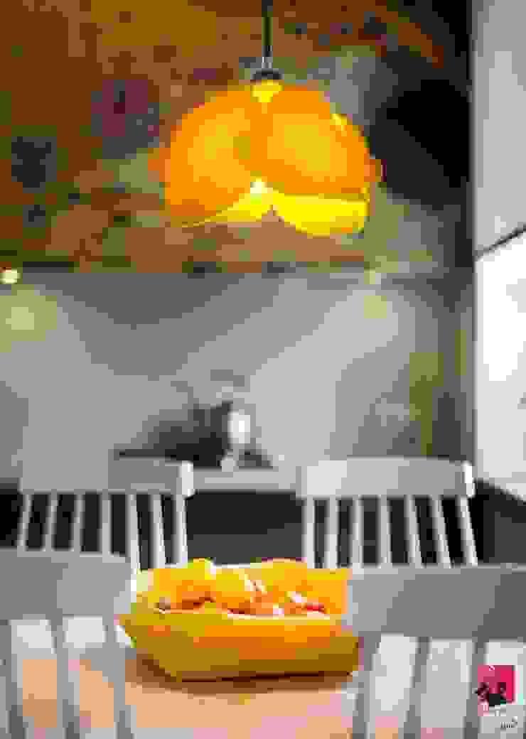 Minimalist Yemek Odası Pink Pug Design Minimalist