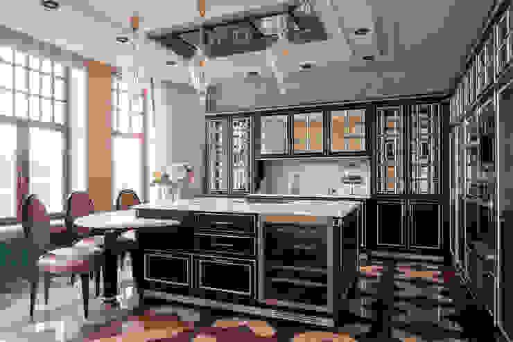 Двухэтажная квартира в Лаврушинском переулке 270 м2 Кухня в классическом стиле от Gallery 63 Классический