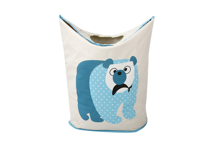 UberLyfe Foldable Polar Bear Laundry Bag cum Storage Box for Kids - Large: modern  by Uberlyfe,Modern