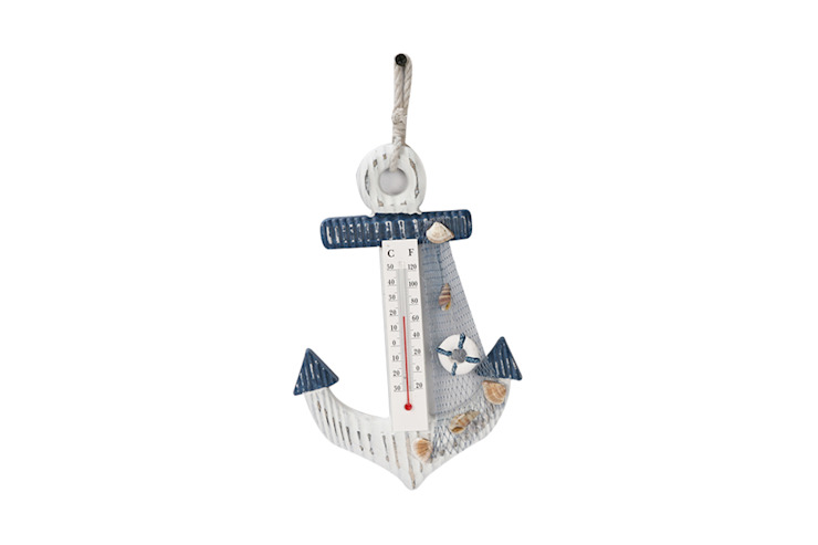 Anchor style Thermometer - Lifebuoy: rustic  by Uberlyfe,Rustic