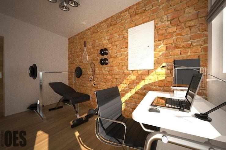 Modern Study Room and Home Office by OES architekci Modern