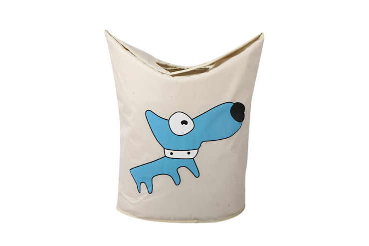 UberLyfe Foldable Blue Dog Laundry Bag cum Storage Box for Kids: modern  by Uberlyfe,Modern