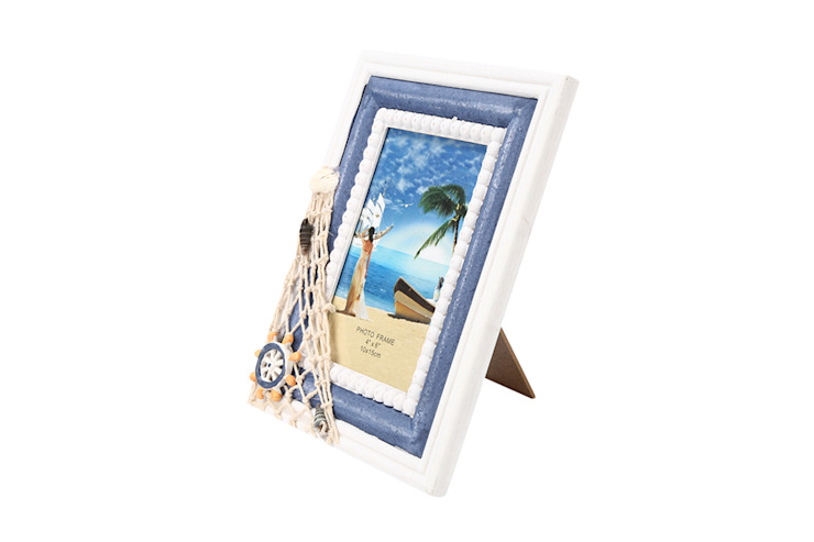 Uberlyfe Beach Theme Table Mounted Photo Frame 4 by 6 : rustic  by Uberlyfe,Rustic