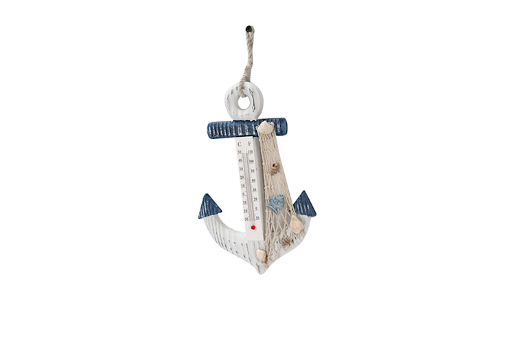 Anchor style Thermometer - Bluefish : rustic  by Uberlyfe,Rustic