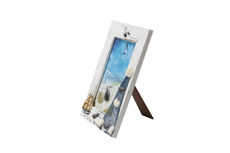Uberlyfe Beach Theme Table Mounted Photo Frame 4 by 6 - Ship: rustic  by Uberlyfe,Rustic