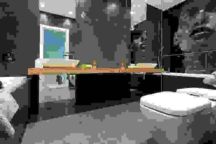 Minimalistyczny Apartament 43m2 Warszawa Minimalistyczna łazienka od The Vibe Minimalistyczny