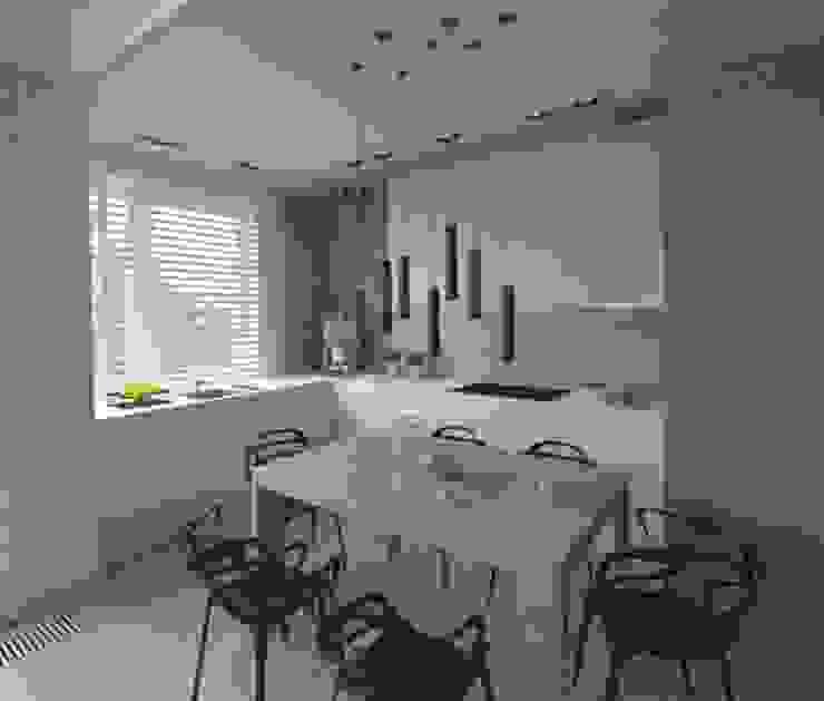 Apartament 100m2 Warszawa Nowoczesna kuchnia od The Vibe Nowoczesny