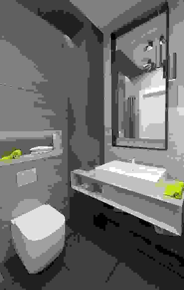 Apartament 100m2 Warszawa Minimalistyczna łazienka od The Vibe Minimalistyczny