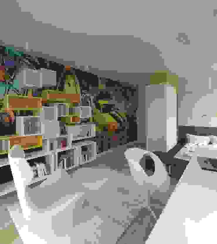 Apartament 100m2 Warszawa Minimalistyczny pokój dziecięcy od The Vibe Minimalistyczny