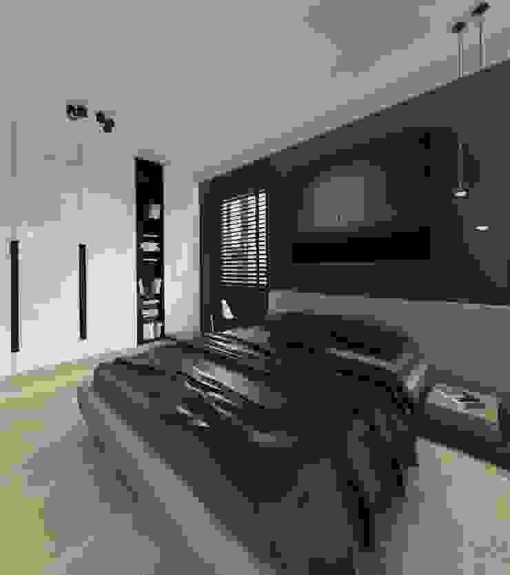 Apartament 100m2 Warszawa Nowoczesna sypialnia od The Vibe Nowoczesny