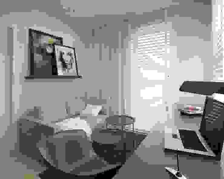 Apartament 100m2 Warszawa Minimalistyczne domowe biuro i gabinet od The Vibe Minimalistyczny