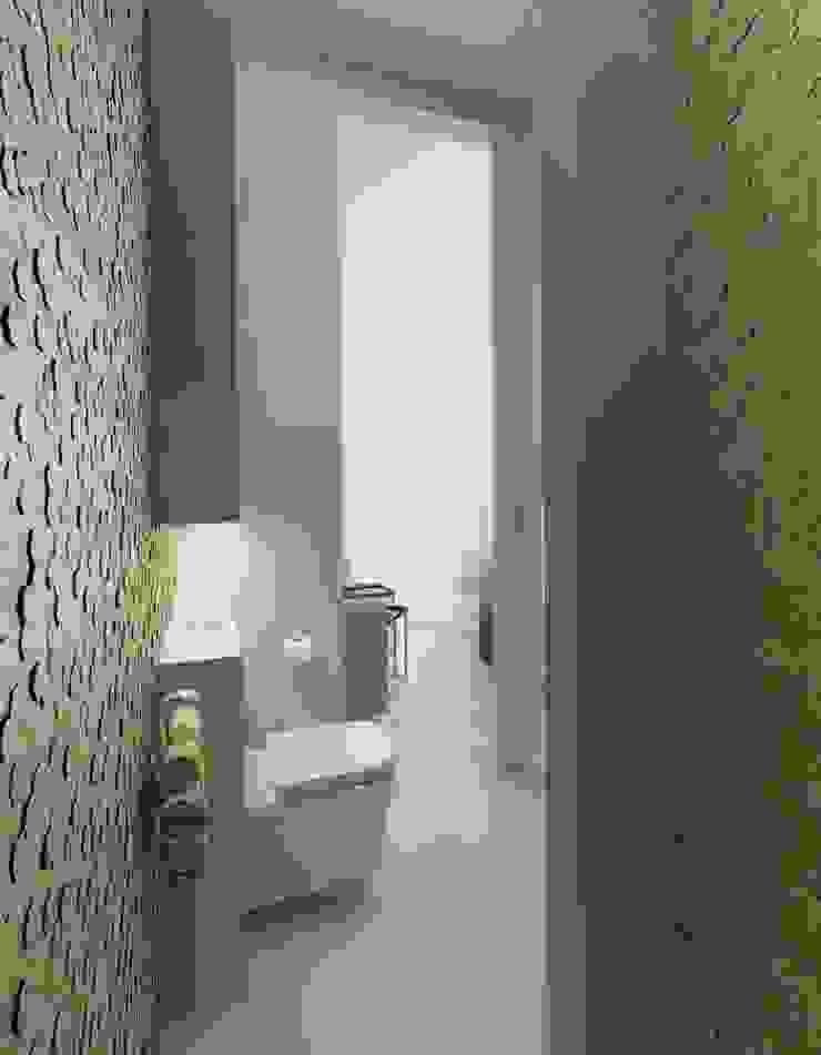 Minimalistyczny Dom Warszawa Minimalistyczna łazienka od The Vibe Minimalistyczny