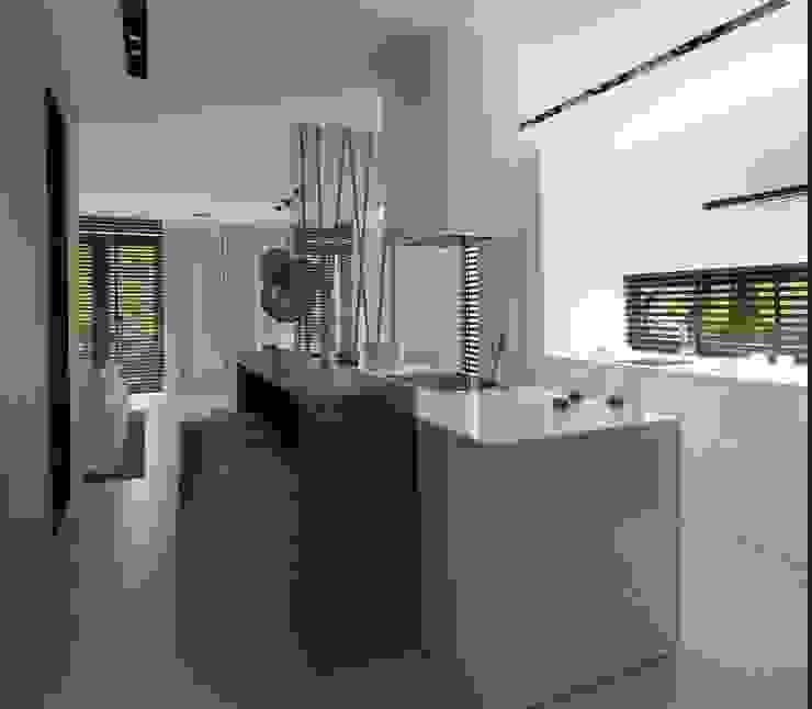 Wnętrza Domu w Warszawie Minimalistyczna kuchnia od The Vibe Minimalistyczny