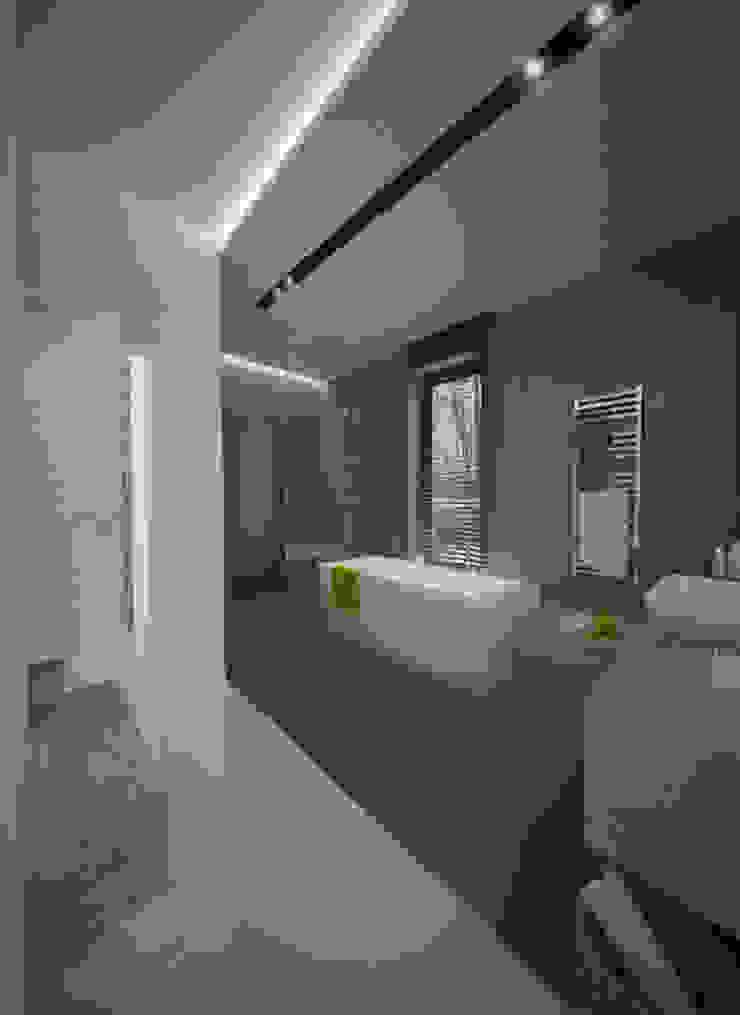 Wnętrza Domu w Warszawie Minimalistyczna łazienka od The Vibe Minimalistyczny