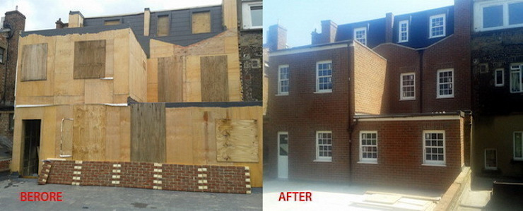 Before and After Extension Building Fourways ML - The Brick Panels Rustik