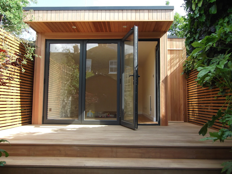 Garden Room in Queens Park, London Modern Garden by Office In My Garden Modern