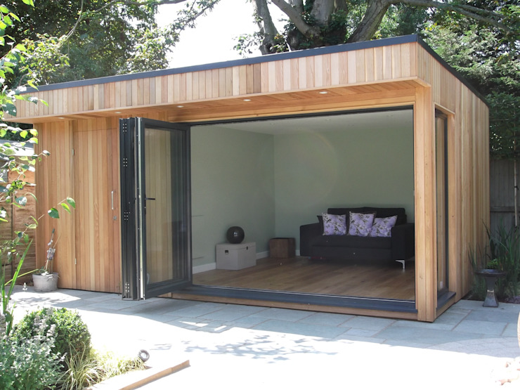 Garden Room in High Barnet, London Modern Garden by Office In My Garden Modern