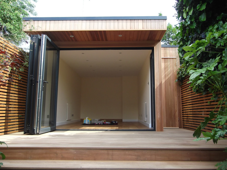 Garden Room in Queens Park, London Modern garden by Office In My Garden Modern
