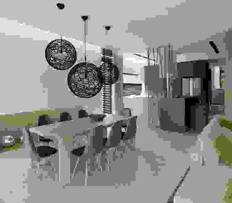 Wnętrza Domu w Warszawie Minimalistyczna jadalnia od The Vibe Minimalistyczny