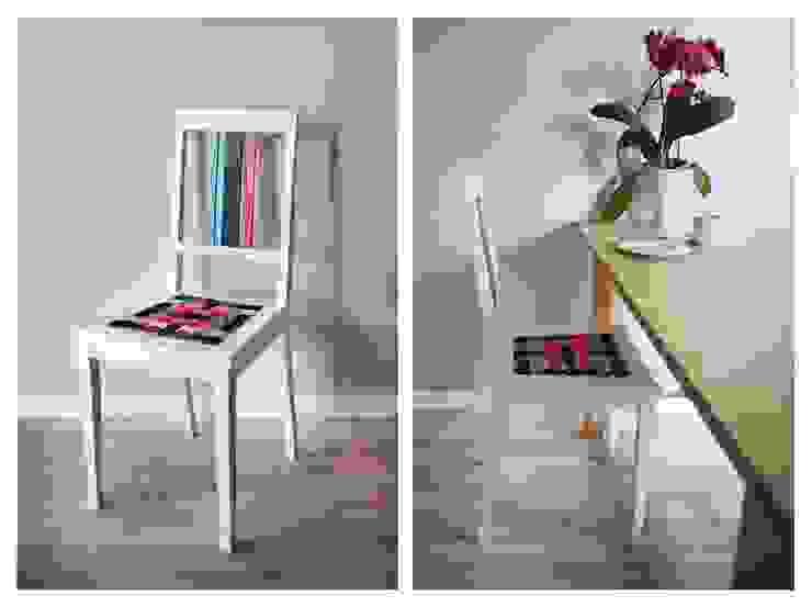 Krzesło z kolorowymi pasami. od Wooow! projekt Skandynawski