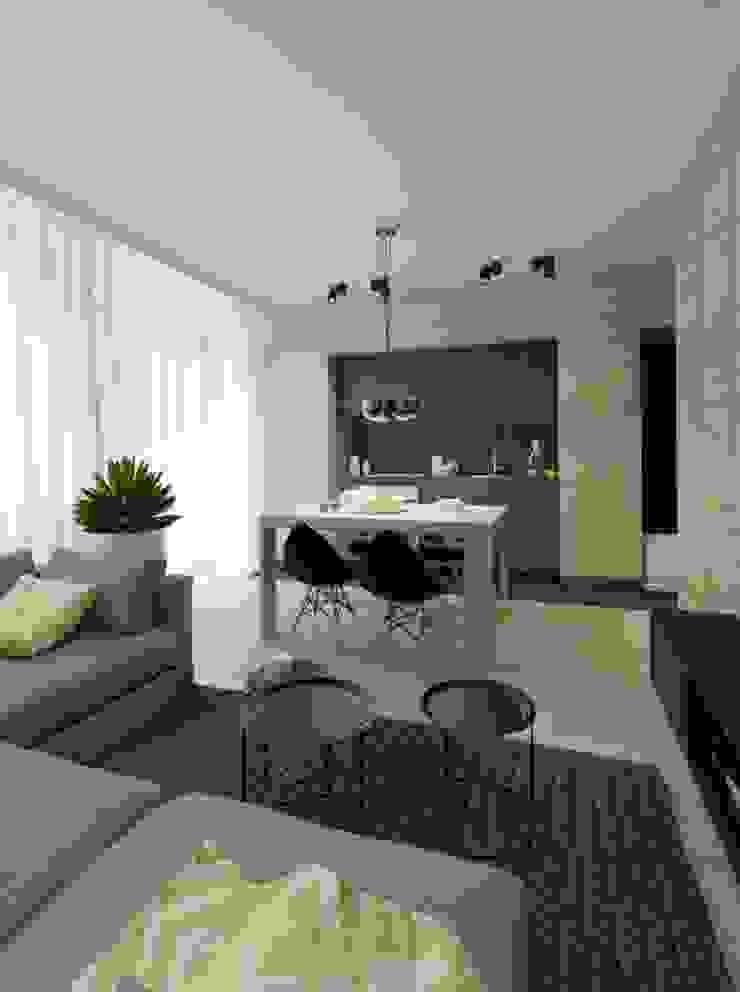 Apartament 60m2 Puławy Minimalistyczna jadalnia od The Vibe Minimalistyczny