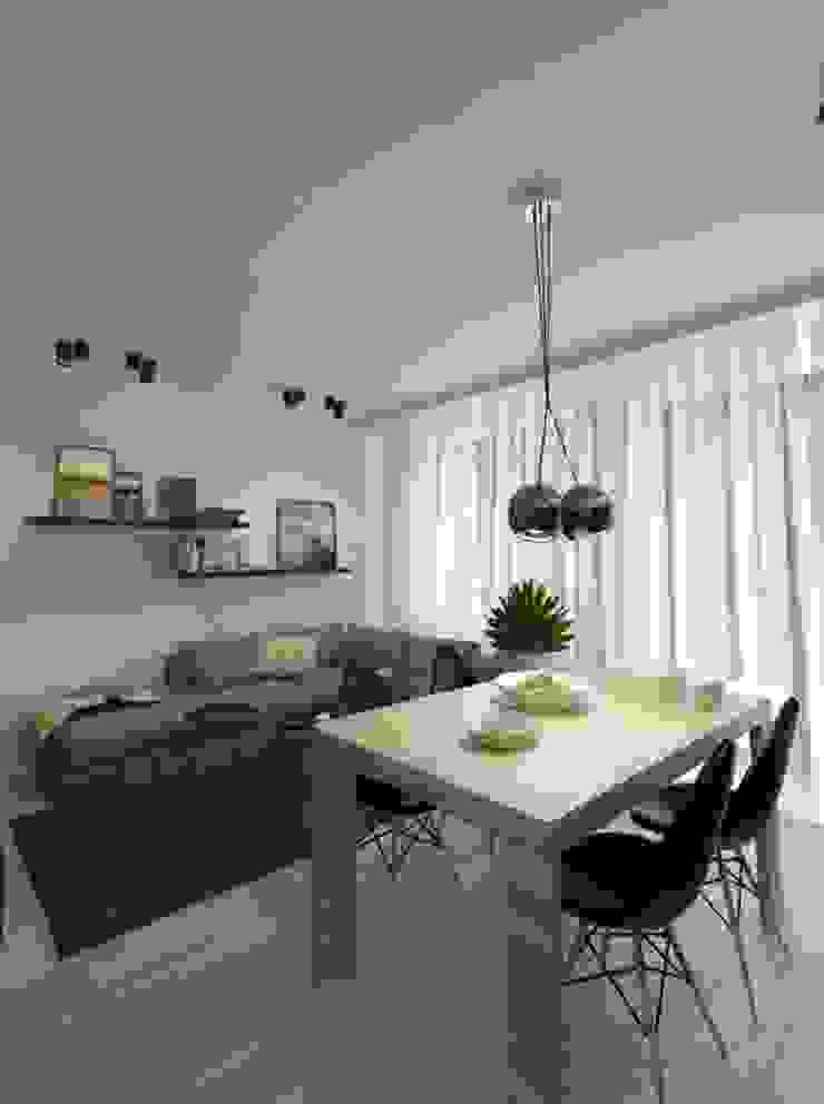 Apartament 60m2 Puławy Minimalistyczny salon od The Vibe Minimalistyczny
