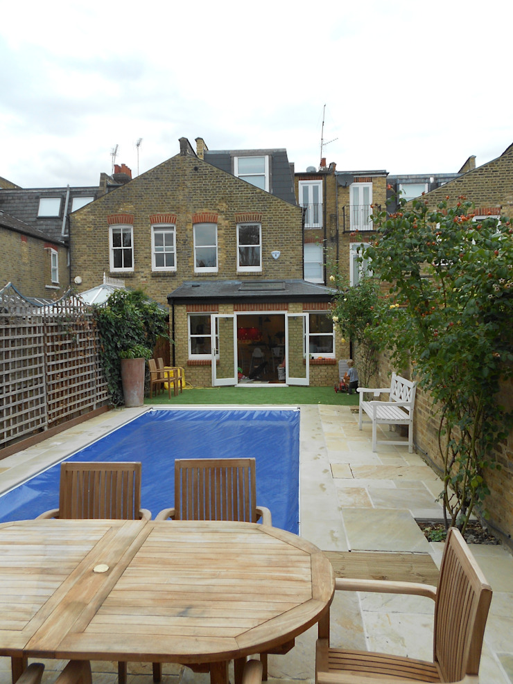Fulham, London—rear extension, loft conversion and entire house renovation including inserting swimming pool by Zebra Property Group