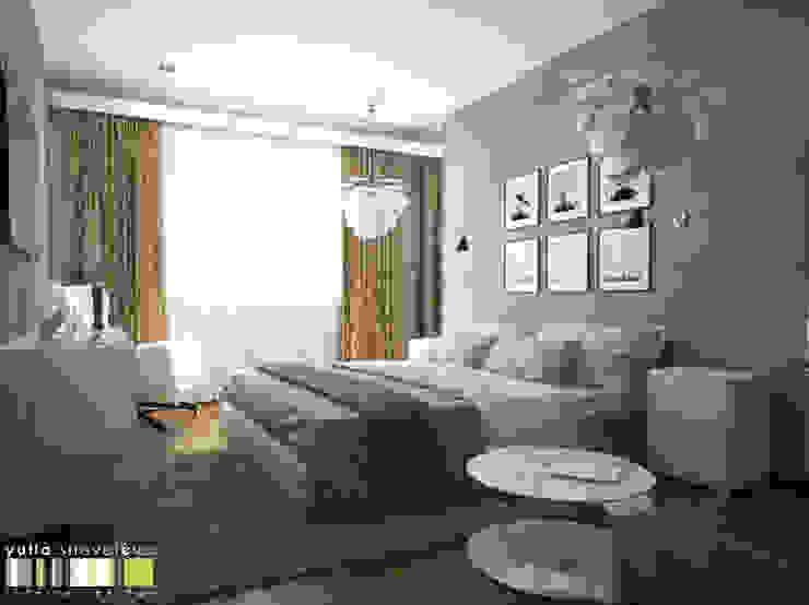 СТИЛЬ И ХАРАКТЕР Спальня в стиле минимализм от Мастерская интерьера Юлии Шевелевой Минимализм