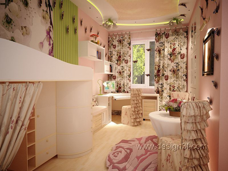 детская Детская комната в стиле модерн от студия Design3F Модерн