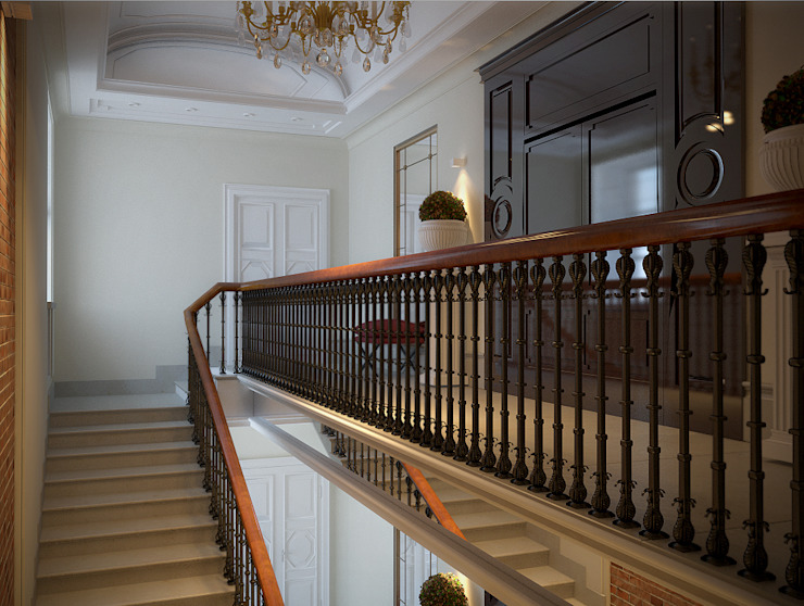 Отель на улице Чехова.Санкт-Петербург. Коридор, прихожая и лестница в эклектичном стиле от АРТ АТЕЛЬЕ Эклектичный