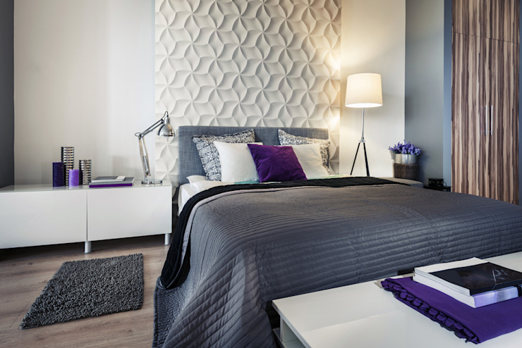 Eclectic style bedroom by Loft Design System Deutschland - Wandpaneele aus Bayern Eclectic