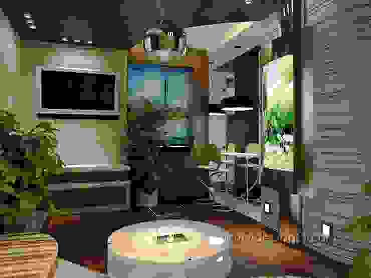 студия Столовая комната в стиле модерн от студия Design3F Модерн