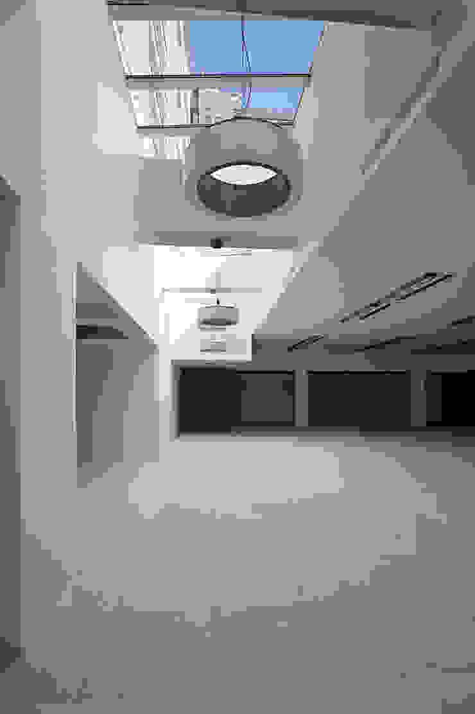Foto del piano interrato adibito ad uffici Finestre & Porte in stile moderno di Studio di Architettura Fabio Nonis Moderno